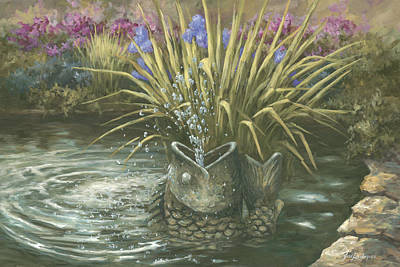 Painting - Pond Fountain by Jose Rodriguez