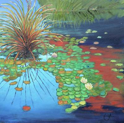 Lilly Pond Painting - Pond by Gary Coleman