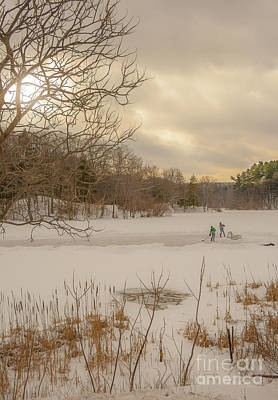 Pond Hockey Photograph - Pond Hockey At Durand by Ken Marsh