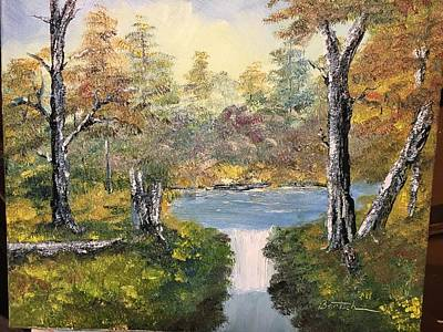 Painting - Pond In The Woods by David Bartsch
