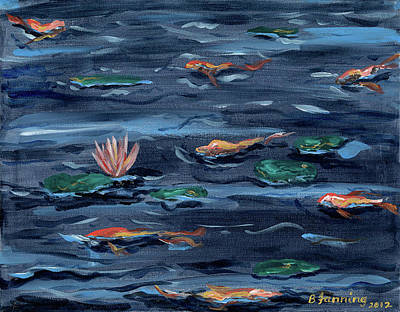 Painting - Pond Jewels by Brenda Stevens Fanning