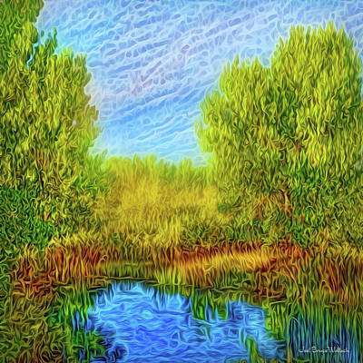 Digital Art - Pond Of Enchantment by Joel Bruce Wallach