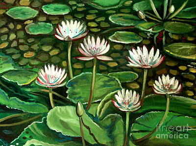 Lilly Pond Painting - Pond Of Petals by Elizabeth Robinette Tyndall