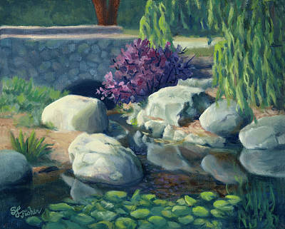 Painting - Pond Of Reflection by Sandy Fisher