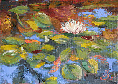 Painting - Pond Play by Trina Teele