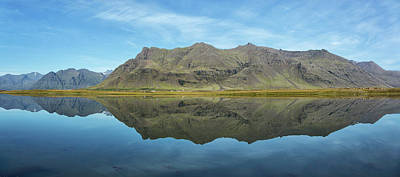 Photograph - Pond Refection Iceland by Jack Nevitt