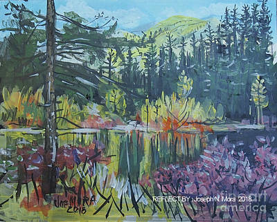 Painting - Pond Reflections by Joseph Mora
