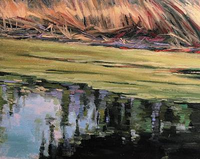 Painting - Pond Scum-heather Farms Walnut Creek by Kevin Davidson