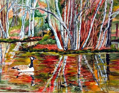 Pond Art Print by Siona Koubek