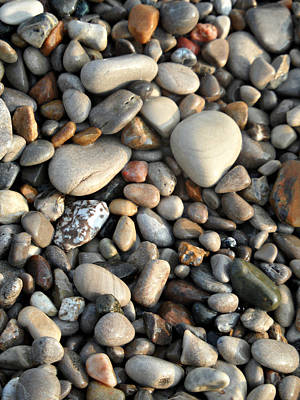 Photograph - Ponder Pebbles by Cyryn Fyrcyd