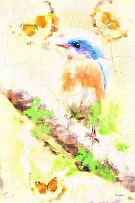 Photograph - Pondering Bluebird by Tina LeCour
