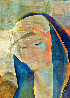 Mother Of Jesus Digital Art - Pondering by Kathy Bucari