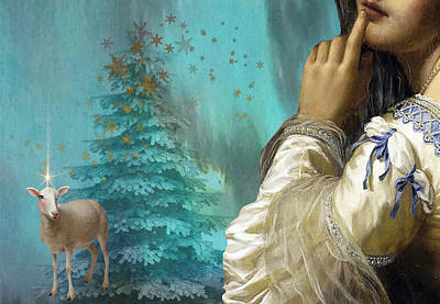 Christmas Painting - Pondering Peace by Laura Botsford
