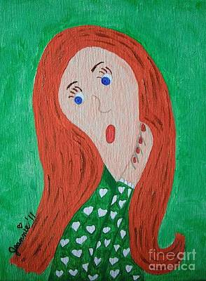 Pondering Redhead Art Print by Jeannie Atwater Jordan Allen
