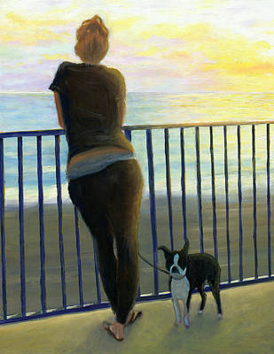 Painting - Pondering The Pacific by Karyn Robinson