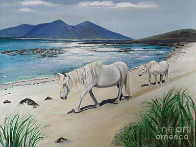 Ponies Of Muck- Painting Art Print by Veronica Rickard