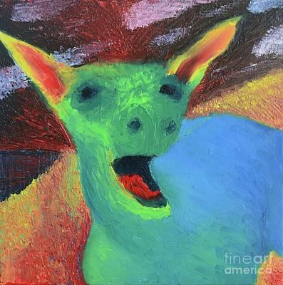 Trippy Painting - Ponkey by Caleb Grow