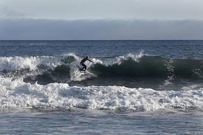 Photograph - Ponquogue Surfer by Steve Gravano