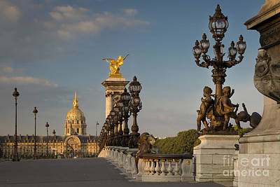Photograph - Pont Alexandre IIi At Dawn by Brian Jannsen