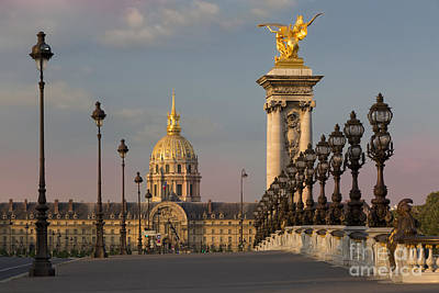 Photograph - Pont Alexandre IIi At Dawn II by Brian Jannsen