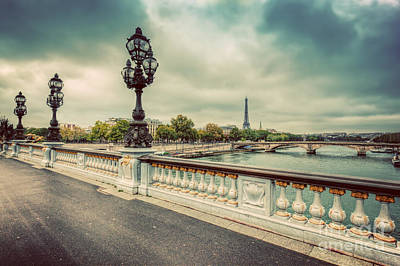 Tour Eiffel Photograph - Pont Alexandre IIi Bridge In Paris, France by Michal Bednarek