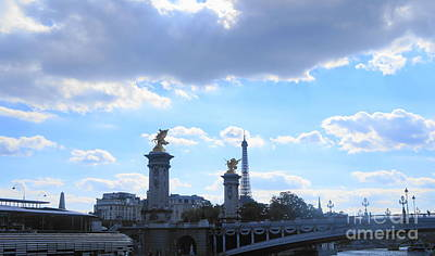Photograph - Pont Alexandre IIi  Bridge by Therese Alcorn