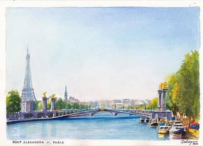 Pont Alexandre IIi Or Alexander The Third Bridge Over The River Seine In Paris France Original by Dai Wynn