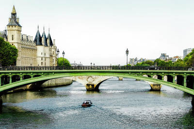Photograph - Pont Au Change Over The Seine River In Paris by Kay Brewer