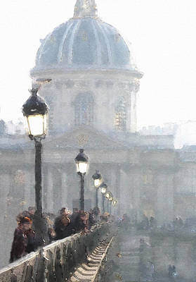 Digital Art - Pont D'arts by Julian Perry