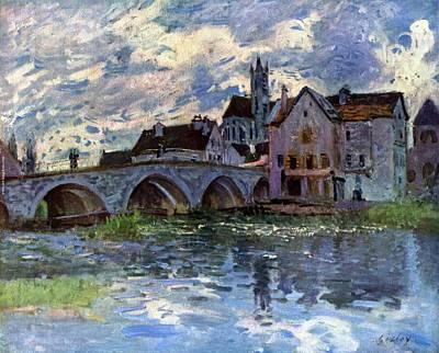 Loing Painting - Pont De Moret Sur Loing by MotionAge Designs