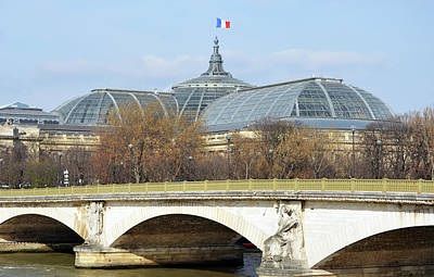Photograph - Pont Des Invalides In Front Of Glass Roof Of Beaux Arts Grand Palais Paris France by Shawn O'Brien