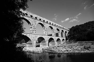 Photograph - Pont Du Gard 1b by Andrew Fare
