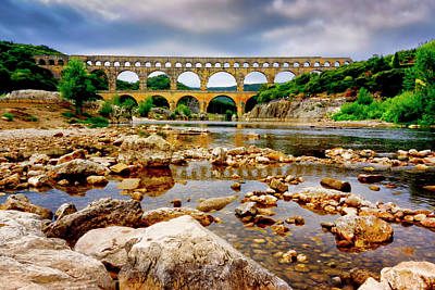 Photograph - Pont Du Gard France Dsc02080 by Greg Kluempers