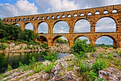 Photograph - Pont Du Gard France Dsc02121  by Greg Kluempers