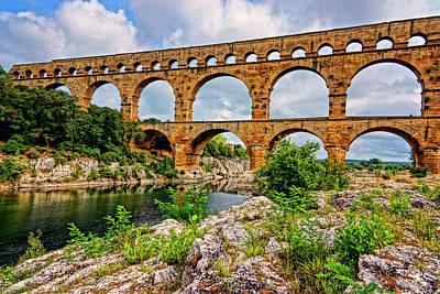 Photograph - Pont Du Gard France Dsc02121  by Greg Kluempers
