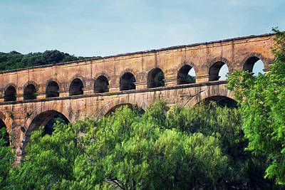Photograph - Pont Du Gard - Nimes - France by Nikolyn McDonald