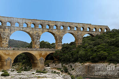 Photograph - Pont Du Gard by Stan and Anne Foster
