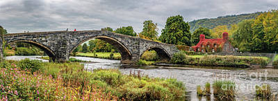 Tea Rooms Photograph - Pont Fawr Bridge Llanrwst by Adrian Evans
