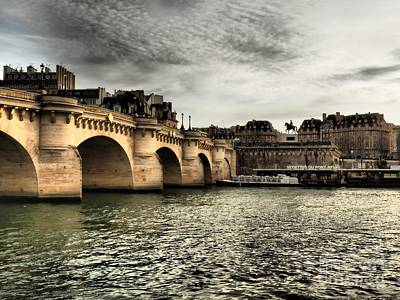 Bastille Day Celebration Photograph - Pont Marie, Paris by Photographer Eyes