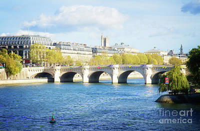 Paris Skyline Royalty-Free and Rights-Managed Images - Pont Neuf in Paris 2 by Anastasy Yarmolovich