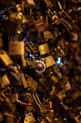 Photograph - Pont Neuf Love Locks by Nisah Cheatham