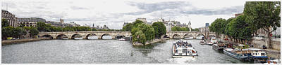 Digital Art - Pont Neuf Panorama by Kai Saarto
