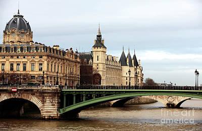Photograph - Pont Notre Dame View by John Rizzuto