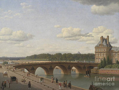 Pont Royal Seen From Quai Voltaire, 1812 Art Print