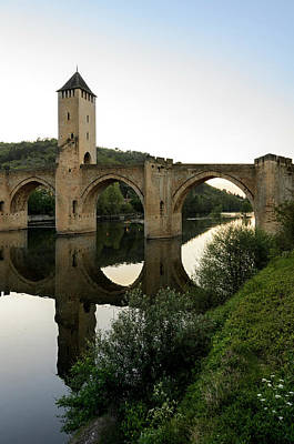 Photograph - Pont Valentre In Cahors Reflections by RicardMN Photography