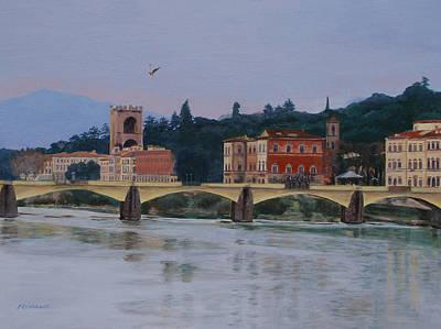 Ponte Vecchio Landscape Art Print