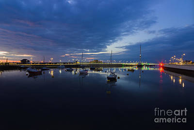 Photograph - Pont Y Ddraig Bridge And Harbour by Ian Mitchell