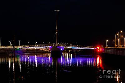 Wales Digital Art - Pont Y Ddraig Bridge In Rhyl  by Chris Evans