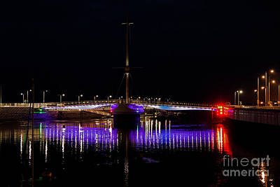North Wales Digital Art - Pont Y Ddraig Bridge In Rhyl  by Chris Evans