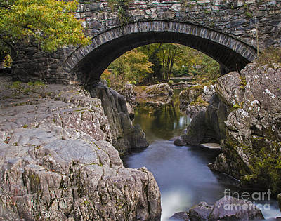 North Wales Digital Art - Pont Y Pair Bridge  by Chris Evans